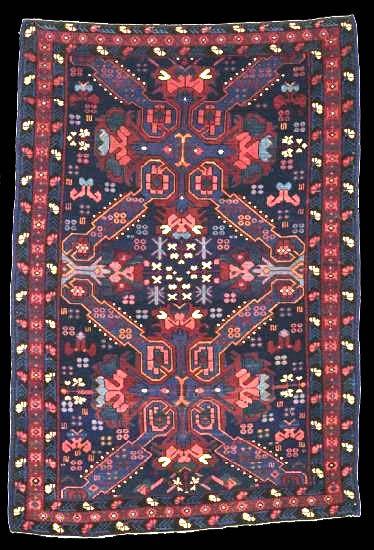 Seichur rug, circa 1900, 140 x 103cm, Northern Kuba Region, Azerbaijan