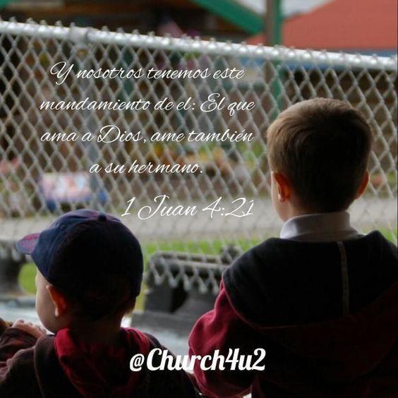 """1 Juan 4-21 Y nosotros tenemos este mandamiento de él: El que ama a Dios ame también a su hermano.  via Instagram http://ift.tt/1Nfo5YC  Filed under: Bible Verse Picture Tagged: 1 Juan 4-21 """"Y nosotros tenemos este mandamiento de él: El que ama a Dios ame también a su hermano."""" Bible Bible Verse Bible Verse Picture Pic Picture Verse         #KingJamesVersion #KingJamesBible #KJVBible #KJV #Bible #BibleVerse #BibleVerseImage #BibleVersePic #Verse #BibleVersePicture #Picture #Pic #Image…"""