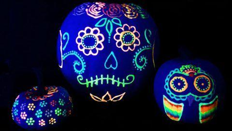 How To Make Glow In The Dark Pumpkins Pumpkin Decorating No