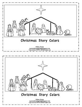 Christmas Story Colors-Kindergarten Emergent Reader | Christmas ...