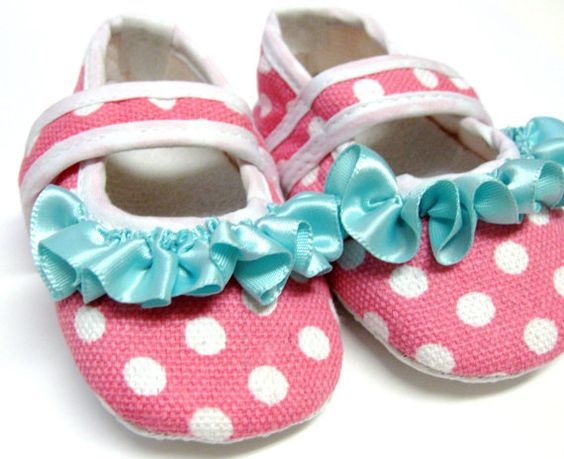 Baby Shoes...Baby Girl Shoes...Crib Shoes..Baby Shoes...Baby Girl. $13.95, via Etsy.