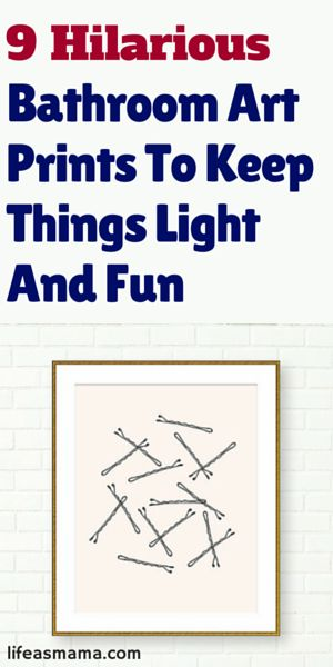 9 hilarious bathroom art prints to keep things light and for Funny words for bathroom