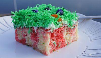 Jelly Bean Poke Cake