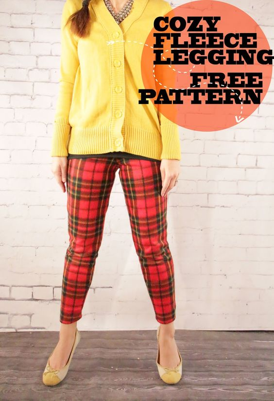 Holiday Tartan: Cozy Fleece Leggings Free Pattern