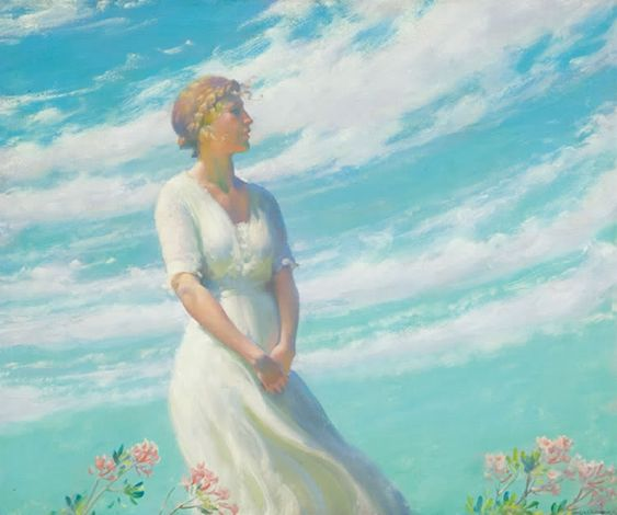 May Breeze  Charles Courtney Curran:
