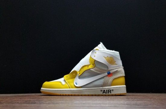 Off White X Air Jordan 1 Canary Yellow