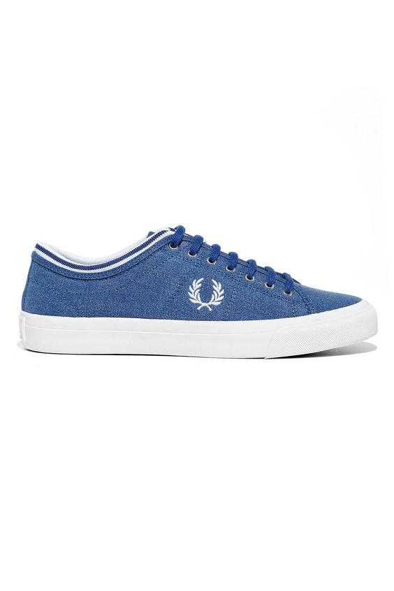 Fred Perry - Kendrick Tipped Cuff Dyed Canvas Cobalt