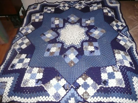 Blue Star Afghan for Morgan