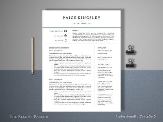cool Minimalist Resume Template CreativeWork247 - Fonts, Graphics - minimalist resume template