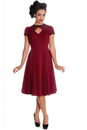 Hellbunny Nell Dress Bordeaux