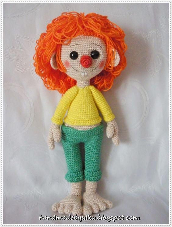 Amigurumi Pippi Yapilisi : Handmade by ulku: Amigurumi Pumuckl bambole Pinterest ...