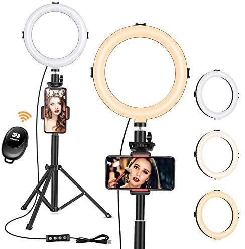 8 Ring Light With Tripod Stand Dimmable Selfie Ring Light Led Camera Ringlight With Tripod And Phone Holder In 2021 Selfie Ring Light Selfie Light Makeup Ring Light