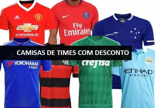 Oferta Netshoe camisas de times com descontos especiais  http://desconto.gratis/cupom/camisas-de-times-com-desconto-netshoes/  #desconto #netshoes #camisasdetimes #futebol