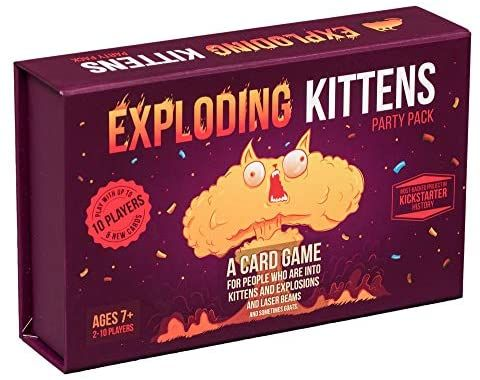Amazon Com Exploding Kittens Card Game Party Pack For Up To 10 Players Family Friendly Party Ga In 2020 Exploding Kittens Card Game Kitten Party Exploding Kittens
