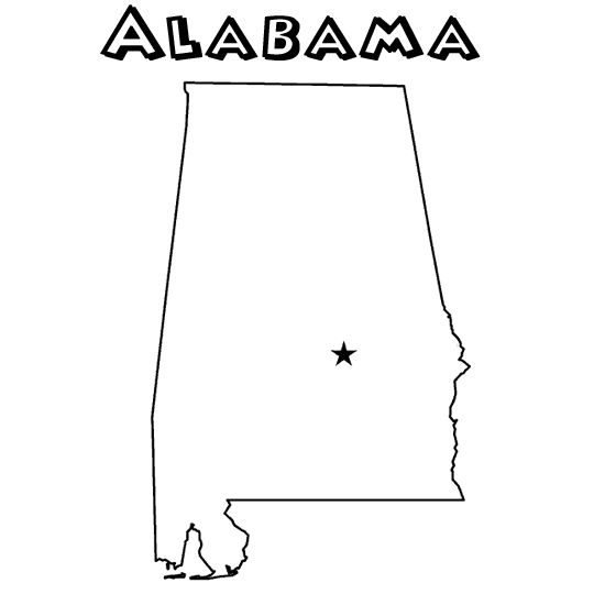 state of alabama coloring pages state coloring page al homeschool pinterest