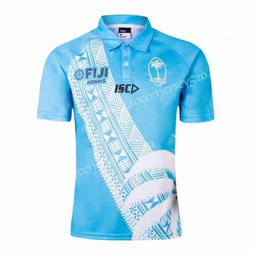 2019 2020 Fiji Away Blue Rugby Shirt Rugby Shirt Shirts Rugby Jersey