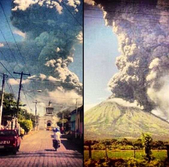 San Cristobal Volcano erupting !  Chichigalpa, Nicaragua. God be with my family ❤