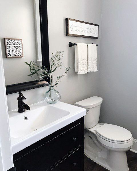 How To Decorate A Small Half Bathroom Internal Home Design In 2020 Small Half Bathrooms Half Bathroom Decor Half Bath Decor