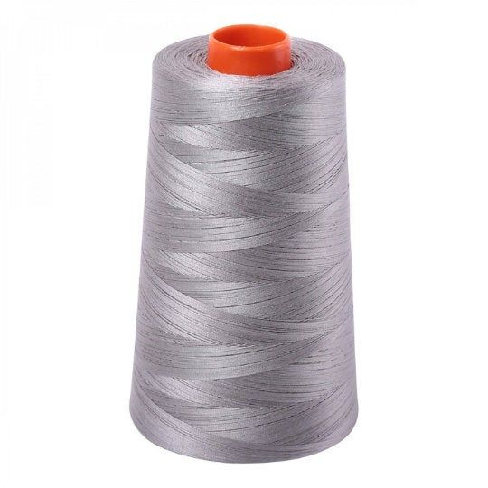 Aurifil Cone 2620 Stainless Grey Gray Egyptian Mako Cotton 50 Weight Wt 5900 Meters 6452 Yards Quilt Cotton Quilting Thread Quilting Thread Quilts Rust Orange