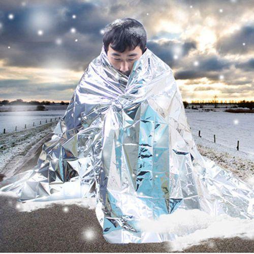 18 Pack Survival Blanket Best Emergency Mylar Silver Reusable Thermal Waterproof
