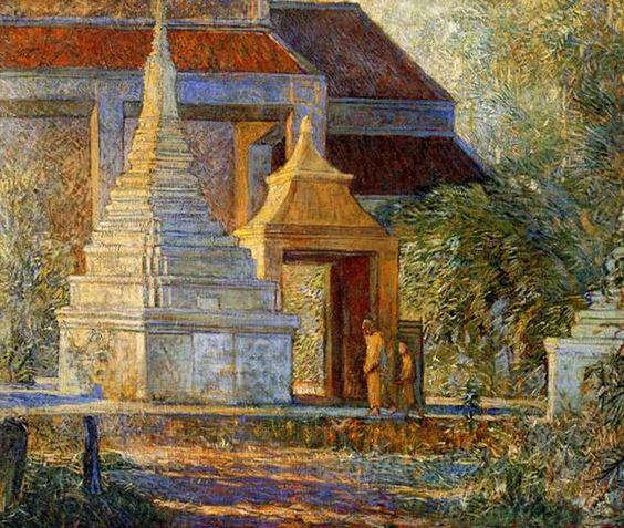 Entra il Silenzio orante tra gli Stūpa di Sam Phaya...   Galileo Chini 1913