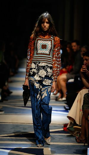 Crochet top on the fashion runway - Miu Miu