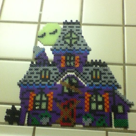 Haunted House perler beads by lovechowder242