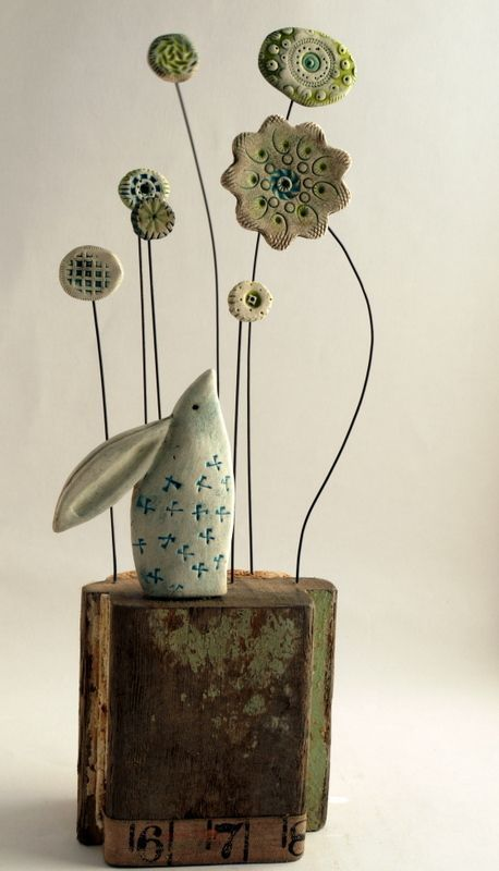 Hare and flowers by Shirley Vauvelle | Made By Hand Online: