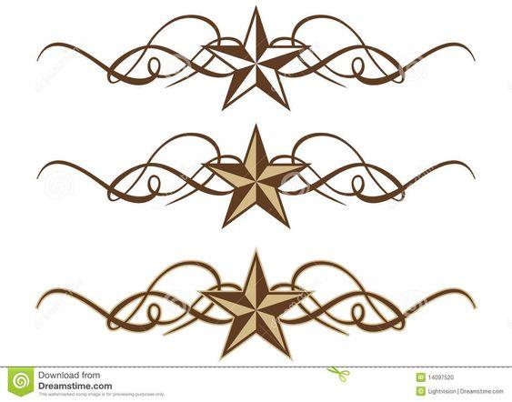 Western Star Scrolls Stock Photo - Image: 14097520