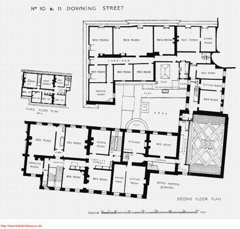 10 11 12 Downing Street Second Floor Plan Ca 1931 Floor Plans Craftsman Floor Plans Luxury Floor Plans