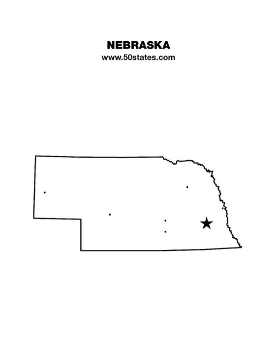 Blank Map Of Nebraska Find This Map And The Other 49