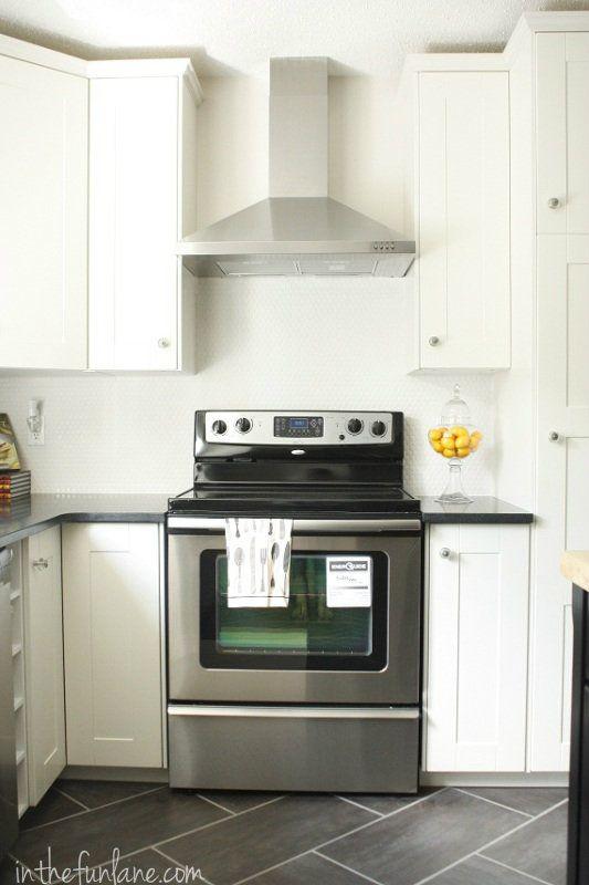 Black Granite Countertops With Tile Backsplash Glamorous Design Inspiration