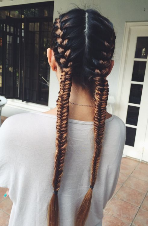 Pigtail braids with extensions