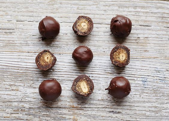 Snickers Energy Balls. Ditch the shop-bought chocolate bar for one (or two) of these little gems that are full of peanut-goodness