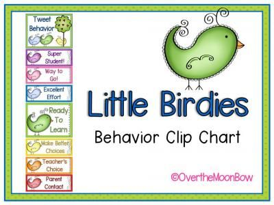 This bright, bird themed behavior chart fits in well with the 'green–yellow–red' behavior system used in many schools, yet provides positive recognition for students who go above & beyond. Perfect for your themed classroom.