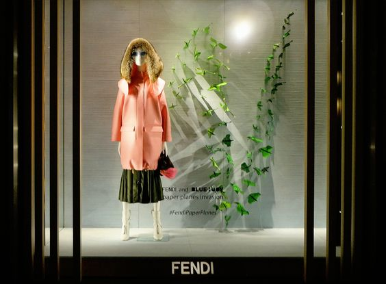 The Fendi Paper Planes invasion at our new boutique in Landmark, Hong Kong