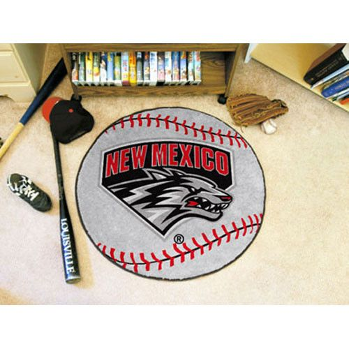 New Mexico Lobos Baseball Round Floor Mat (29)