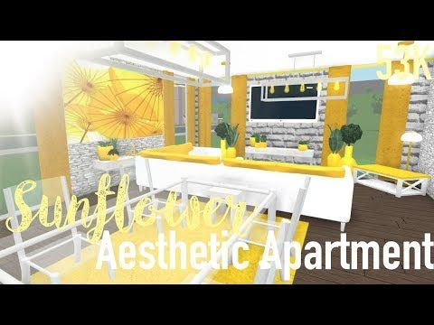 Roblox Bloxburg Sunflower Aesthetic Apartment 53k Youtube