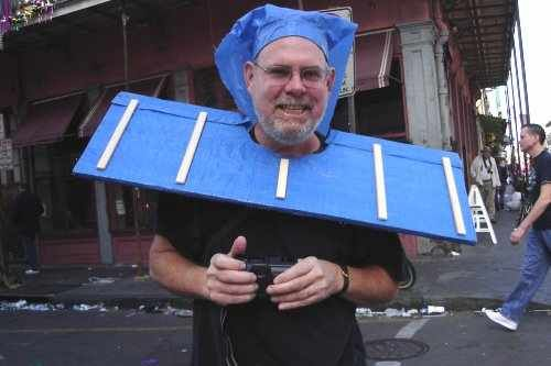 "My kids have a Louisiana Themed costume contest during Mardi Gras every year at school, it can be ANYTHING louisiana themed....just getting ideas and came across this pic ""Blue Tarp Roof Man"" what is usually seen after hurricanes down here LOL"
