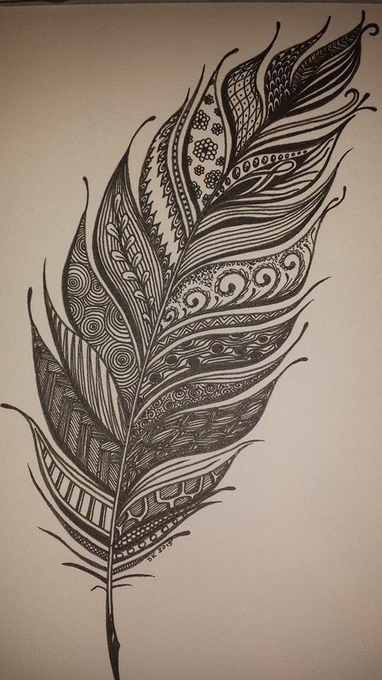 Zentangles Patterns Step By Step Zentangle feather   Al...