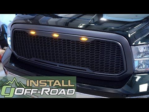 Dodge Ram Gets A Functional Face Lift Full Mesh Abs Main Upper Grille W Led Accents Install 13 2018 In City 20530 Washington Dc B Dodge Ram Dodge Custom Grill