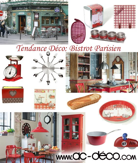 Rouge cuisine and retro on pinterest for Accessoire deco cuisine