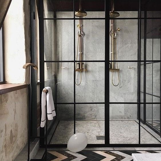 G M Daily Interior Inspiration On Instagram Concrete Walls Crittall Shower Doors The Perfect Mix For An Indus Amazing Bathrooms Concrete Shower Shower Doors
