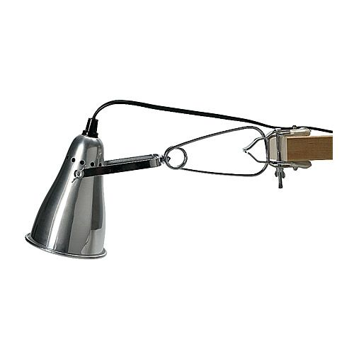 fas foco con pinza ikea pantalla regulable para poder dirigir el haz de luz