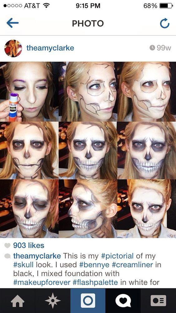 Pastel #skullmakeup #tutorial created by Amy Clarke #theamyclarke #halloweenmakeup @theamyclarke #skull #gaga