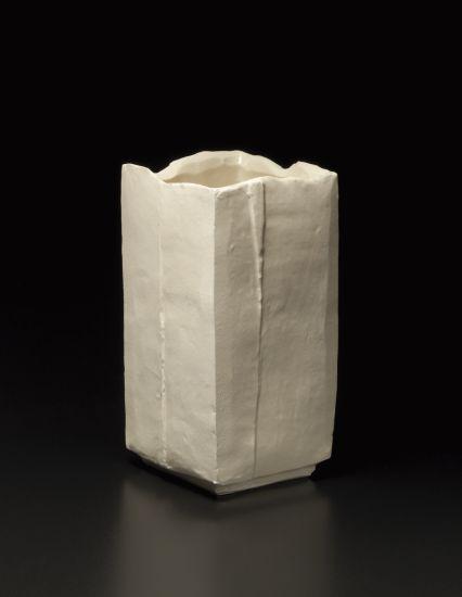 Osamu Suzuki, square vase, 1960s