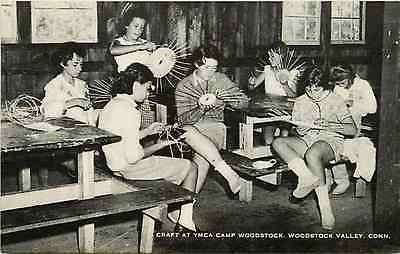 Woodstock Valley Connecticut CT 1950 Crafts YWCA Camp Woodstock Vintage Postcard