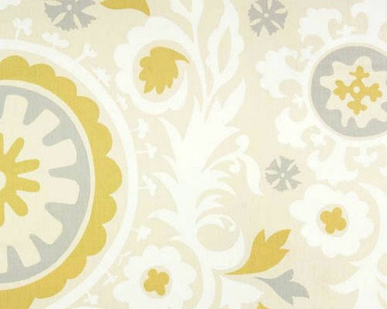 For the office ...  Home Decor Fabric Yardage  Suzani Print  Gray and by decorate23, $9.95