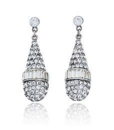Bridal Briolette Crystal Drop Earrings
