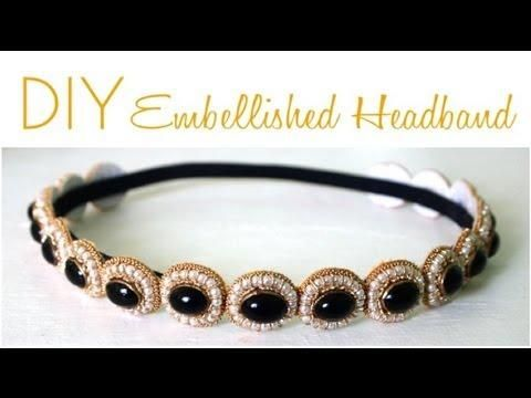 DIY Gatsby Inspired: How to DIY Great Gatsby Embellished Headband {Video Tutorial} DIY Hair Accessories